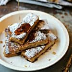 French toast sticks on a white plate