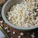 Popcorn in a large bowl