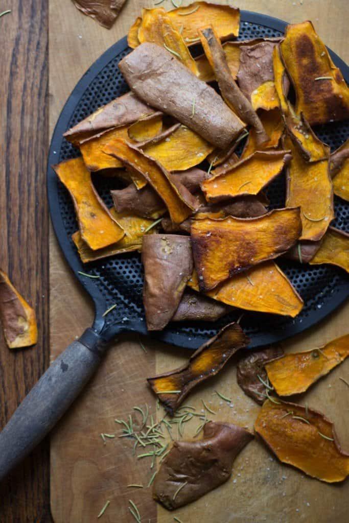 Overhead shot of Sweet Potato Skins Chips