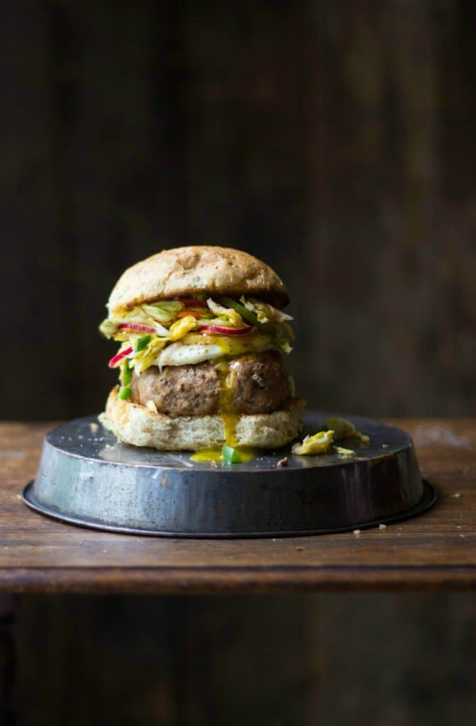 Asian Turkey Burgers With Kimchi The Gourmet Rd