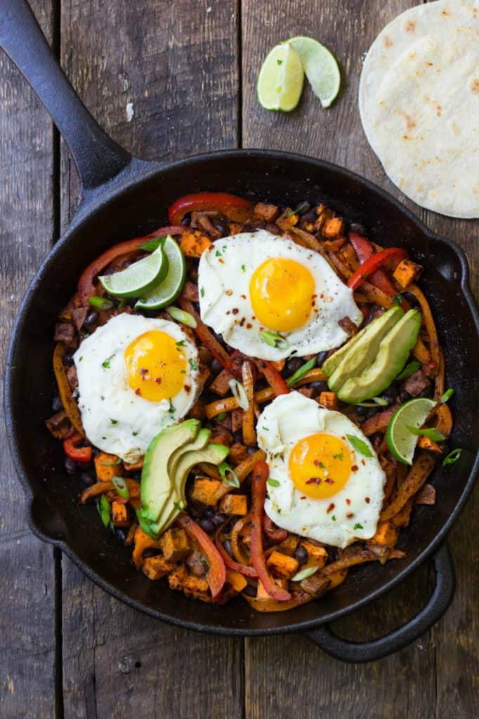 Mexican-style skillet in a cast iron pan