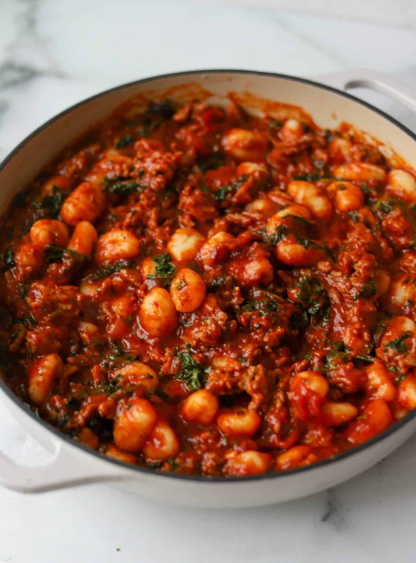 Italian Sausage, Kale & Gnocchi Skillet