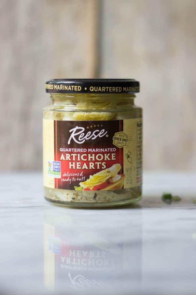Artichokes in a jar.