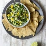 Mango Cucumber Salsa in a bowl.