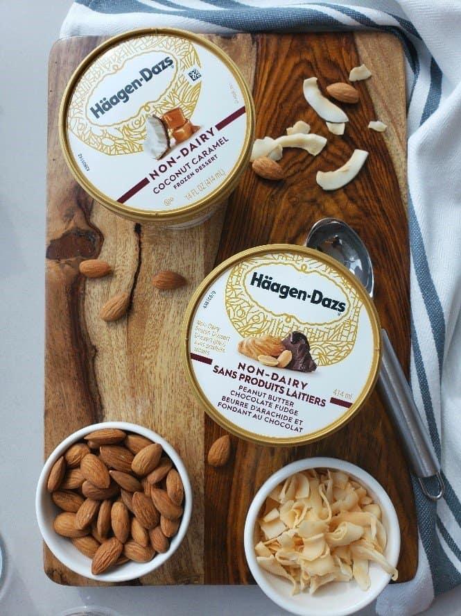Haagen-Dazs non-dairy ice cream containers