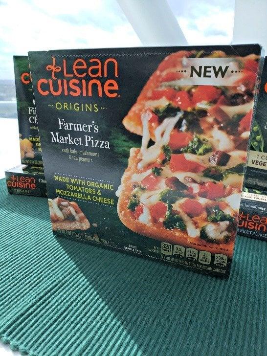 Box of Lean Cuisine Farmer's Market Pizza as an option for convenient ways to eat more plants