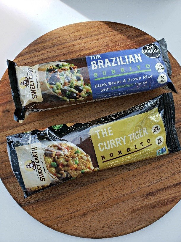 Convenient packaged plant-based burritos from Sweet Earth