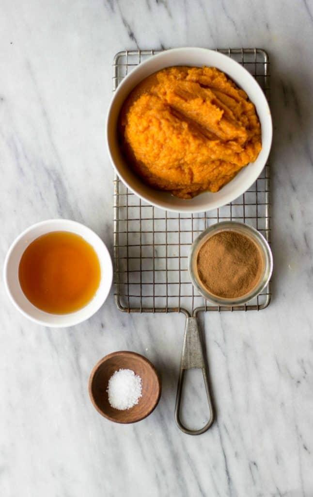 Maple Pumpkin Butter ingredients.