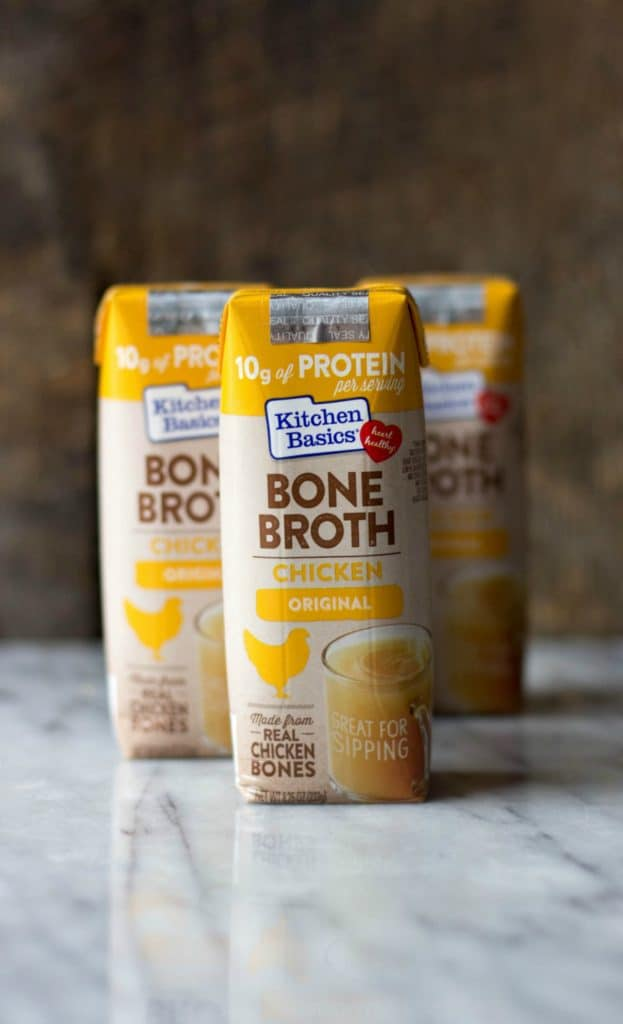 Kitchen Basics Bone Broth conatainers,