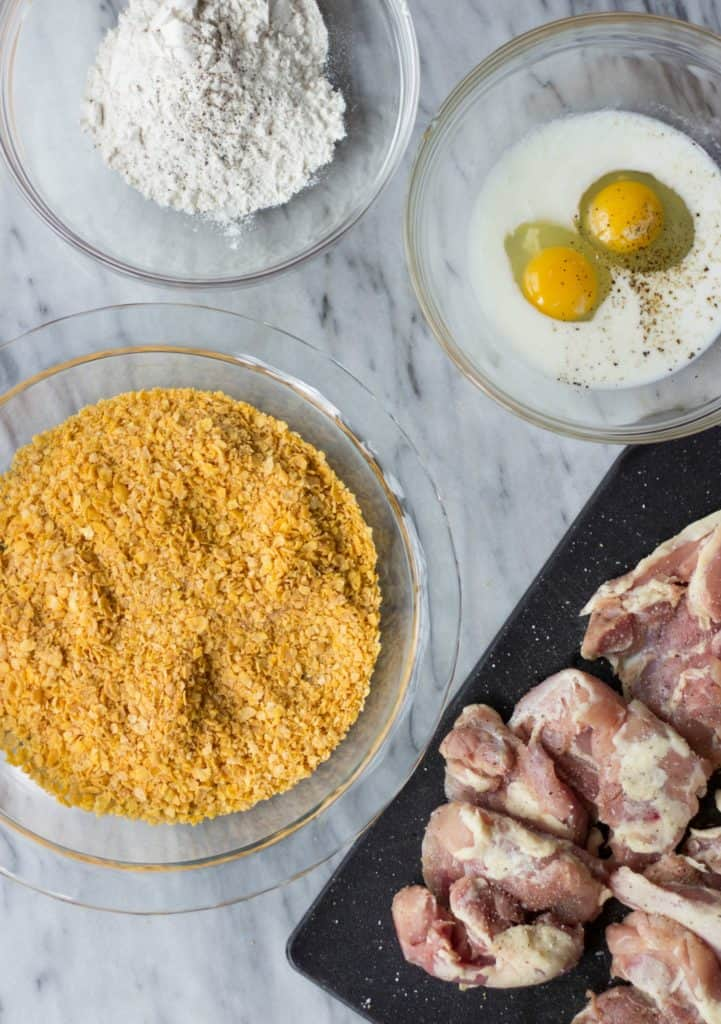 Ingredients for cornflake chicken