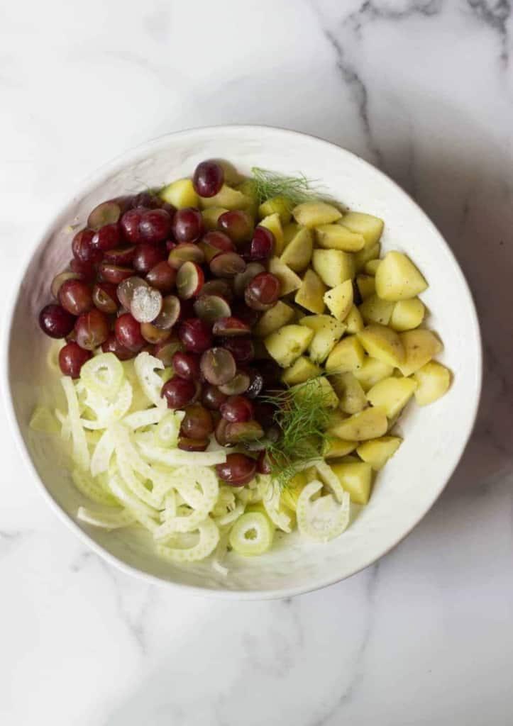 Fennel & Grape Potato Salad