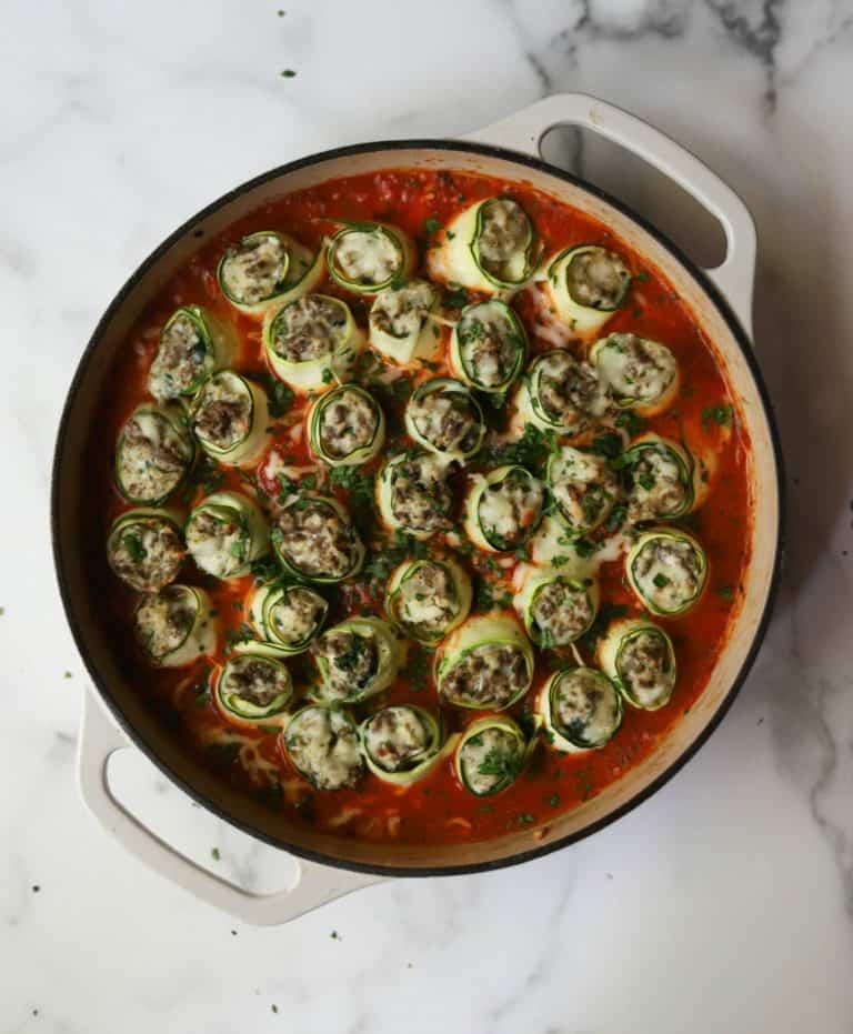 Ricotta & Beef Zucchini Roll-Ups