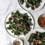 Kale & Crispy Chickpea Caesar Salad