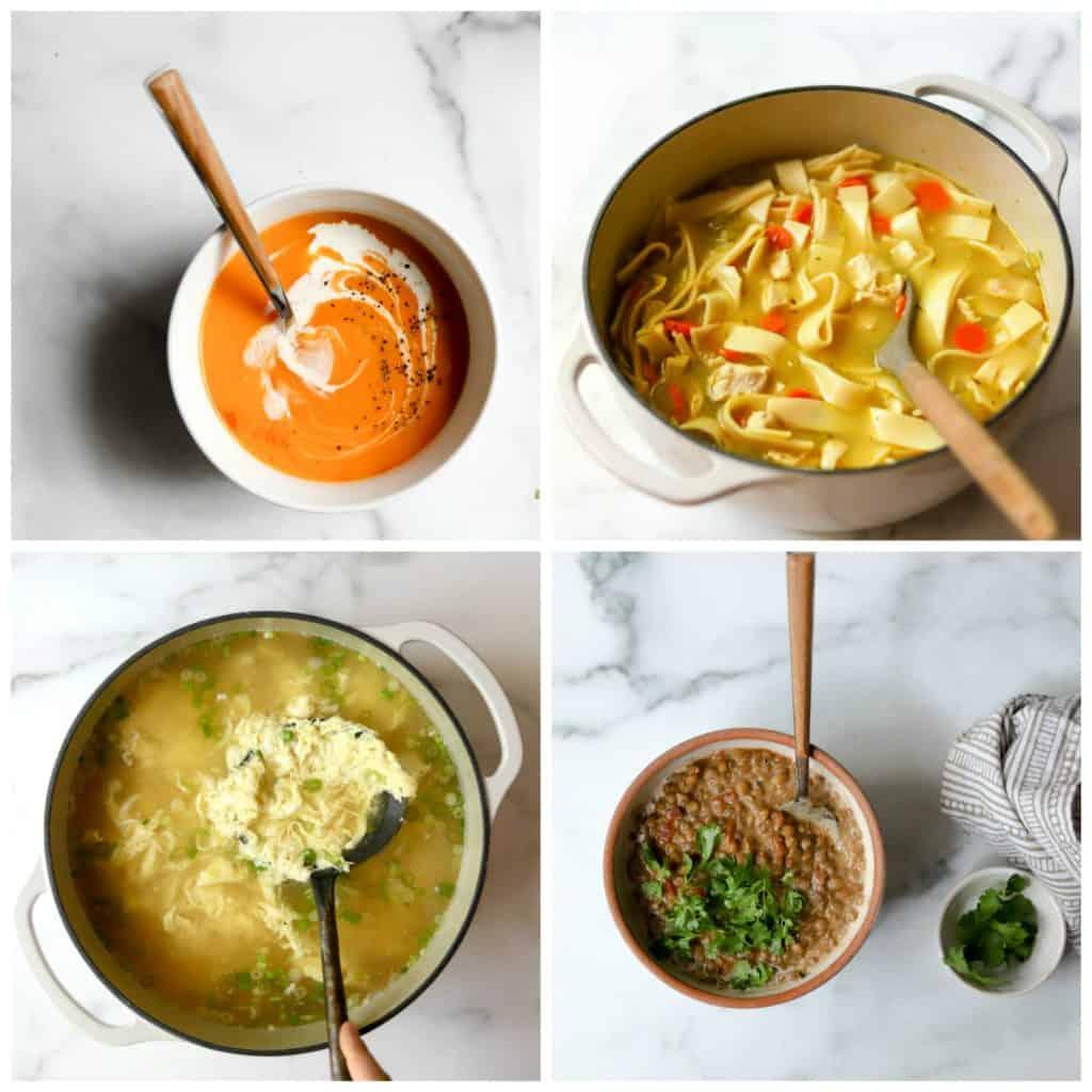 Simple Soups Cookbook Collage