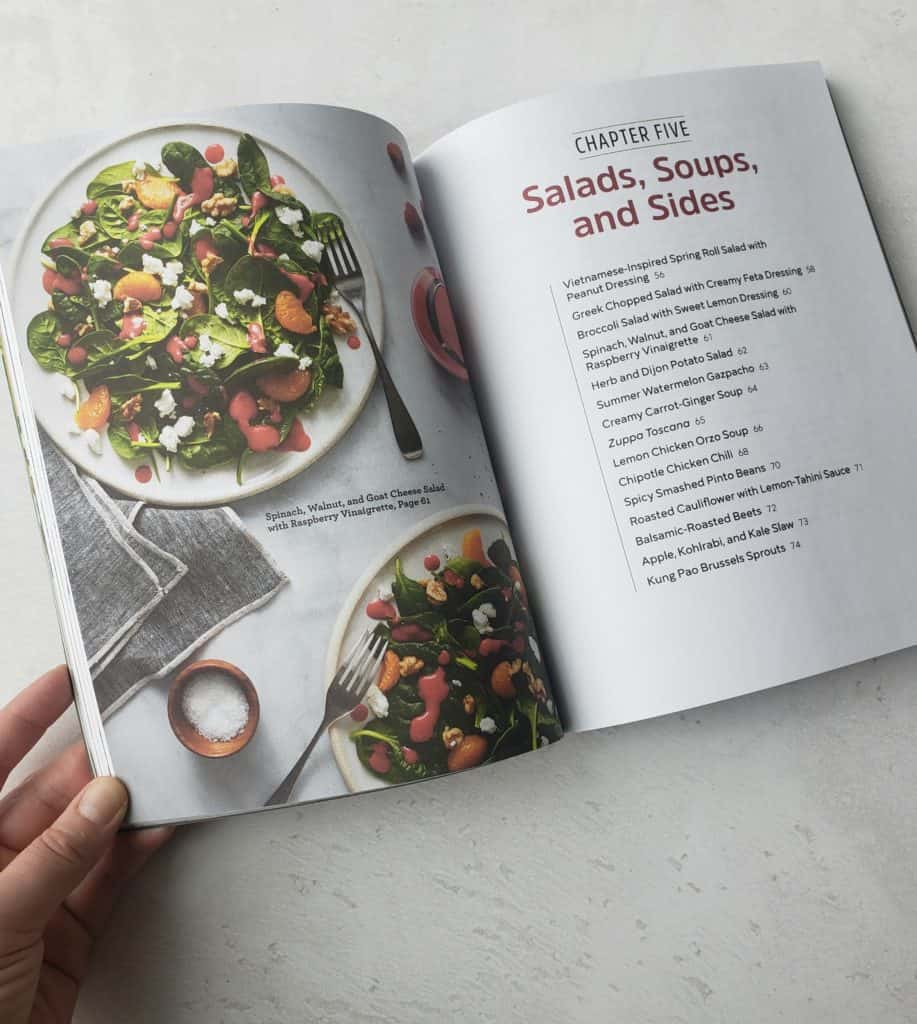 Salad with raspberry dressing and salad cookbook index