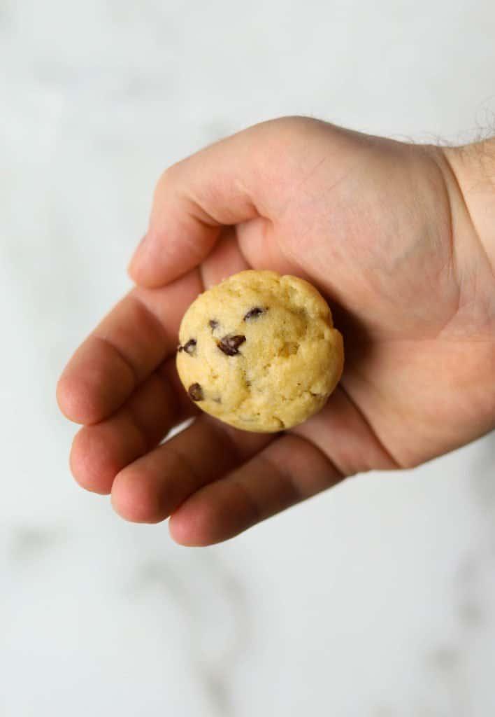 Mini muffin in a hand
